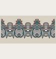 decorative stripe pattern paisley floral design vector image vector image