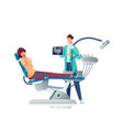 dentist flat vector image vector image