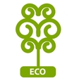 Eco Tree Isolated On White Background vector image vector image