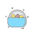 egg easter eggbasket icon design vector image vector image