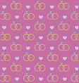 engagement rings and hearts background vector image