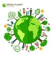 Family globe ecology vector image