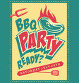 funky design concept for barbecue party vector image vector image