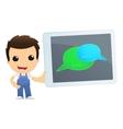 funny cartoon mechanic vector image vector image