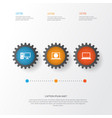 gadget icons set collection of web laptop vector image