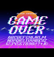 glith typeface game over vector image vector image