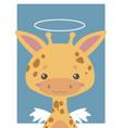 guardian angel giraffe vector image vector image