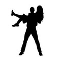guy holding girl in his arms vector image