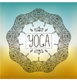 hand drawn ornamental yoga badge vector image vector image