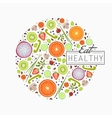 Healthy food background of fresh vegetable vector image vector image