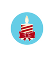 Icon Colorful Christmas Candle vector image vector image