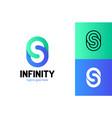 infinity letter s logo design template logo vector image vector image