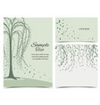 invitation card with tree vector image vector image