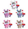 Jack rabbit cartoon vector image vector image