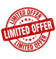 limited offer stamp vector image vector image
