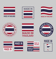 made in thailand icon set kingdom thailand vector image vector image