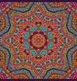 mandala doodle lines decorated background vector image vector image
