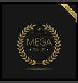 mega sale golden wreath icon vector image vector image