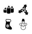 merry christmas simple related icons vector image