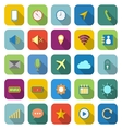 Mobile phone color icons with long shadow vector image vector image