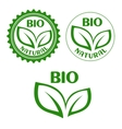 Natural bio food abels in retro style vector image vector image