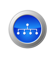network button vector image vector image
