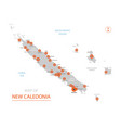 new caledonia map with administrative divisions vector image