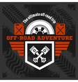 Off-road - grunge emblem and design elements