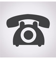 old phone icon vector image