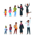 people different ages boy girl students vector image vector image
