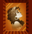 photo of young woman with catrina makeup vector image