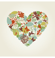 Plant heart vector image vector image