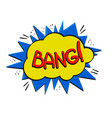pop art bang logo vector image vector image