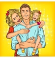 Portrait of a happy family - father mother and vector image vector image