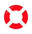 red lifebuoy ring icon life buoy round circle vector image vector image