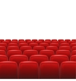 Red seats with screen vector image vector image