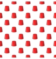 Red turkish hat fez pattern cartoon style vector image vector image