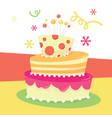 retro birthday cake vector image vector image