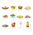 salad healthy food with fresh vegetables vector image vector image