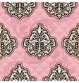 Seamless Rococo floral in pink vector image