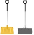 Snow shovels set vector image vector image
