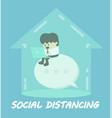 social distance concept vector image