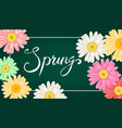spring banner hand drawn lettering background vector image vector image