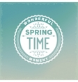 Spring retro label vector image