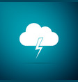 storm icon isolated cloud and lightning sign vector image