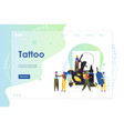 tattoo website landing page design template vector image vector image
