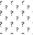 The question mark hand drawn seamless pattern vector image vector image