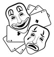 theatre masks drama and comedy vector image vector image