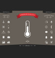 thermometer icon symbol vector image