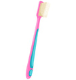 Toothbrush with pink handle vector image